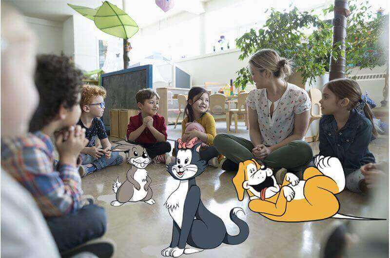 kids learning about pets